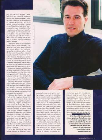 Dr.Pierjean Albrecht in Essential Magazine - 2007